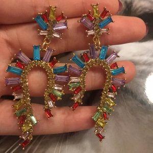 Zara colorful crystals earrings
